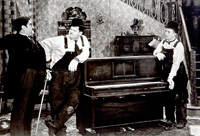Laurel and Hardy deliver a piano